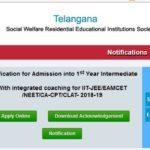 www.tswreis.telangana.gov.in