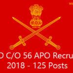 24 FAD C/O 56 APO Recruitment 2018 | 125