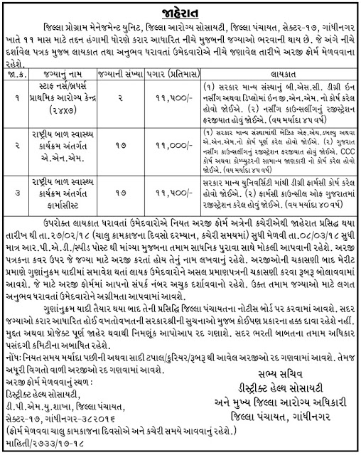 DHS Gandhinagar Recruitment
