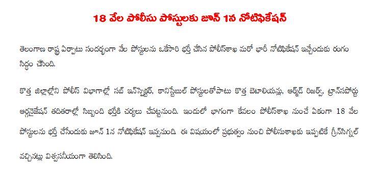 TS police Recruitment