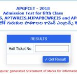 APGPCET 2018 Results – 4th List of 5th class Admission | ఆంధ్రప్రదేశ్ గురుకుల పాఠశాలల కామన్ ఎ౦ట్రన్స్ టెస్ట్ ఫలితాలు