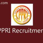 CPPRI Recruitment