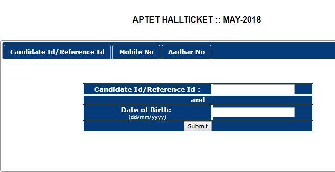 aptet hall ticket