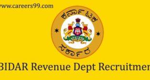 BIDAR Revenue Dept Recruitment
