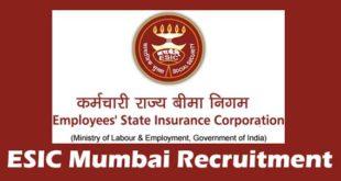 ESIC Mumbai Recruitment
