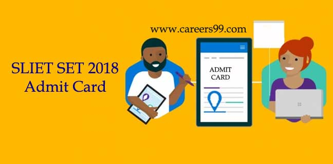 SLIET SET 2018 Admit Card