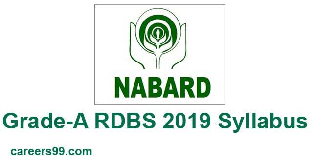 NABARD Grade-A RDBS 2019 Syllabus