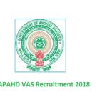 APAHD VAS Admit Card 2018