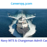 Indian Navy MTS & Chargeman