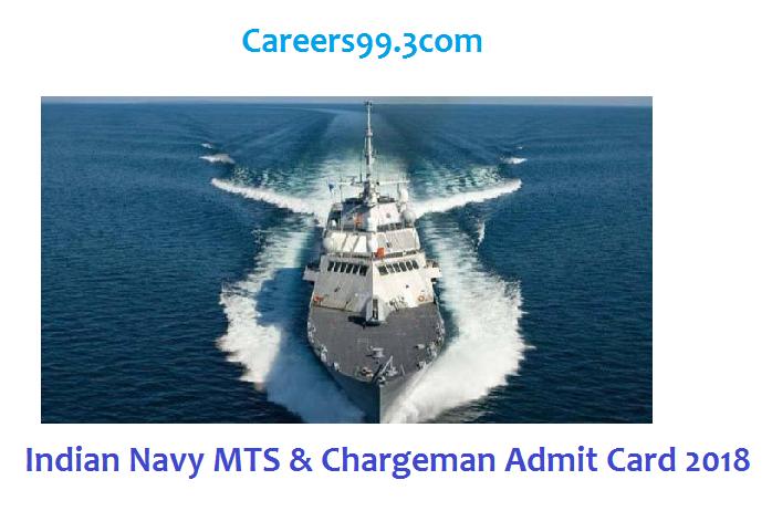 Indian Navy MTS & Chargeman