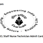 NCL Staff Nurse Admit Card 2018