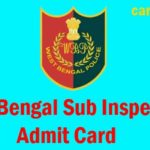 WB Excise SI Admit Card