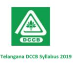 Telangana DCCB Syllabus