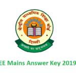 JEE Mains Answer Key