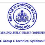 KPSC Group C Technical Syllabus